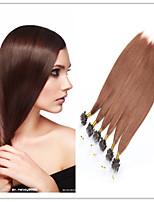 Top Quality Micro Ring Hair/Loop Hair Extension Brazilian Human Virgin Straight Hair 1G/S 100G/PC 1PC/Lot In Stock