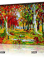 DIY Digital Oil Painting With Solid Wooden Frame Family Fun Painting All By Myself     Autumn Forest 5029