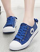 Zapatos de mujer Vaquero Tacón Plano Comfort/Punta Redonda Sneakers a la Moda Exterior/Casual Negro/Azul
