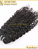 1Pc Lot Brazilian Human Virgin Hair Extensions Bundle Weft Weaving Jerry Curly Natural Color Remy Hair