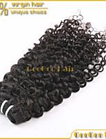 1pc lot brésiliens extensions de cheveux humains vierges bundle trame tissage jerry couleur naturelle bouclés cheveux remy