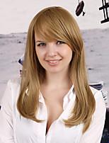 Women Synthetic Dark Blonde Wig Straight 22 Inch