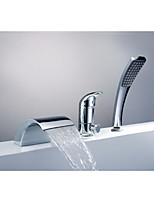 NEW Waterfall Widespread Bathtub Faucet Sink Mixer Tap Hand Shower