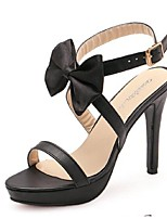 Women's Shoes Stiletto Heel Open Toe Sandals Casual Black
