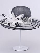 Chapeau Casque Mariage/Occasion spéciale Vannerie Femme Mariage/Occasion spéciale 1 Pièce
