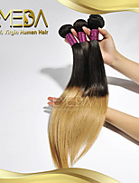 3Pcs/Lot Brazilian Virgin Hair T-Color Straight Hair 100% Human Hair Extension  Brazilian Hair Weave Bundles