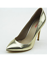 Women's Shoes Leatherette Stiletto Heel Heels/Pointed Toe Pumps/Heels Wedding/Outdoor/Party & Evening Gold