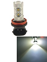 Carking™ H8/H11 50W 10SMD 2800ML 6000K White Light LED Fog Light Head Lamp Driving Bulb(DC 12V)