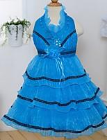 Vestido de niña de las flores - Corte A Hasta la Tibia - Satén/Tul Sin Mangas