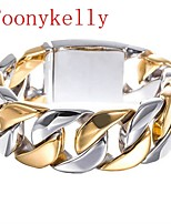 Toonykelly® Cute   stainless steel jewelry Silver Cuff Bracelet Bangle(1PC)