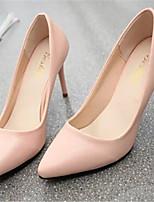 Zapatos de mujer Semicuero Tacón Stiletto Puntiagudos Pumps/Tacones Vestido Negro/Rosa