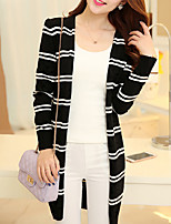Women's Pink/White/Black/Purple Cardigan , Casual Long Sleeve