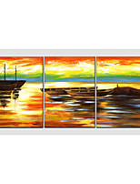 Oil Painting Set of 3 Modern Sea View ,Canvas Material with Stretched Frame Ready To Hang SIZE:50*70CM*3PCS .