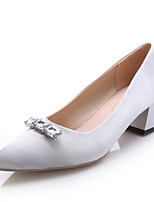 Women's Shoes Kitten Heel Heels/Pointed Toe Pumps/Heels Office & Career/Dress Pink/Silver