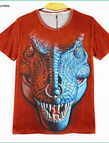 Men's Short Sleeve T-Shirts 3D Creative Animal Printing Shirt Men's Clothes Hip-hop Tops