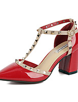 Women's Shoes Patent Leather Chunky Heel Comfort Pointed Toe Pumps Party and Dress More Colors available
