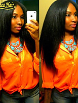 Unprocessed Brazilian Kinky Straight Full Lace Wig Medium Density Glueless Full Lace Human Hair Wigs For Women