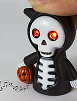 LED Grim Reaper Keychain Flashlight Sound Light Key Ring (Random Color)