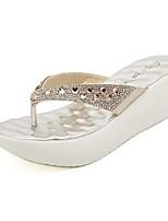 Chaussures Femme - Décontracté - Noir / Argent / Or - Plateforme - Creepers - Sandales - Similicuir