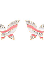 Abstrac Artistic Glamorous Butterfly Stud Earrings