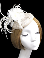 Women Feather/Net British Style Flowers/Hats With Wedding/Party Headpiece(More Colors)