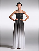 Homecoming Floor-length Chiffon Bridesmaid Dress - Black Sheath/Column Strapless/Sweetheart