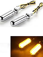 motocicleta moto amarela levou transformar 12v indicador lâmpada de sinal (2 peças)