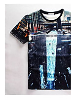 Men's High Quality Creative Natural Funny Realistic Original Summer Breathable 3D Style T-Shirt——The Waterfall