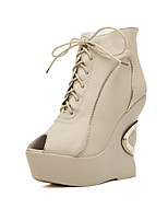 Women's Shoes  Wedge Heel Wedges/Pointed Toe Boots Casual Khaki
