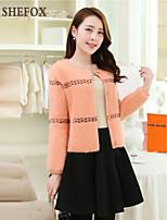 Women's Casual/Work Stretchy Medium Cardigan (Knitwear) SF7C17