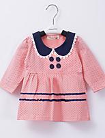 Girl's Cotton Dress , Spring/Fall Long Sleeve