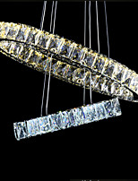 LED Pendant Light Ceiling Chandelier Lighting Lamps Fixtures with D2040CM K9 Crystal LED Warm and LED Cool CE UL