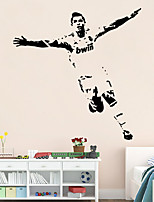 Wall Stickers Wall Decals Style Football Sports Figures PVC Wall Stickers