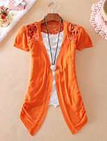 Women's Casual Stretchy Medium Short Sleeve Cardigan