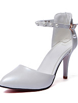 Women's Shoes Stiletto Heel Pointed Toe Pumps Dress with Pearl More Colors Available