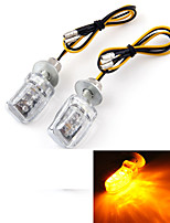 Motorcycle Motorbike Amber LED Turn Signal Light Bulb Indicator 12V (2 Pcs)