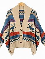 Fashion Women's Casual/Work Stretchy Medium ¾ Sleeve Cardigan (Wool/Acrylic)