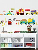 stickers muraux de style de décalques muraux de bande dessinée voiture de PVC autocollants
