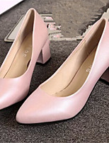 Women's Shoes  Chunky Heel Pointed Toe Pumps/Heels Dress Black/Pink/White