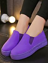 Zapatos de mujer - Tacón Plano - Comfort - Sneakers a la Moda - Exterior / Casual - Tejido - Negro / Rosa / Blanco