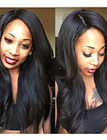 Italian Yaki Full Lace Human Hair Wigs Malaysian Virgin Yaki Straight Glueless Full Lace Wigs For Black Women 8