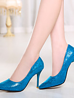 Women's Shoes Stiletto Heel Heels/Pointed Toe Pumps/Heels Office & Career/Dress Blue/Red/Beige