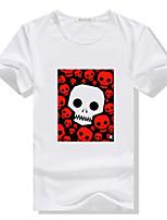 Men's Casual/Work/Sport Print Short Sleeve Regular T-Shirt (Cotton)