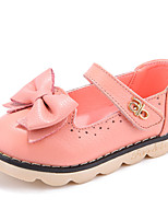 HOBIBEAR 2015 Baby Girls' Shoes Casual Comfort/First Walkers Leatherette Bowtie Flats Pink/Coral