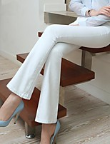 Bell Bottom Denim Flare Pants Women White Jeans Feminina Autumn Skinny Trousers Plus Size Ladies Brand Desiger Jeans