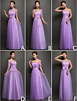 Mix & Match Dresses Floor-length Tulle and Lace 6 Styles Bridesmaid Dresses (3789957)