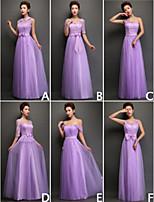 mezclar& vestidos de partido de tul palabra de longitud y de encaje 6 estilos de vestidos de dama de honor (3789957)