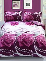 Purple Polyester King Duvet Cover Sets