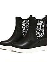 Women's Shoes Suede Wedge Heel Wedges/Fashion Boots/Bootie/Round Toe Boots Outdoor/Casual Black