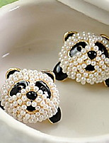 Sweet Panda Pearl Earrings